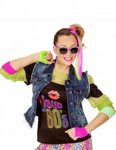 Jaren 80 fluo accessoire set voor meisjes