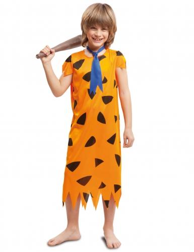 Oranje prehistorie kostuum voor jongens