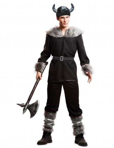 Zwarte viking kostuum voor mannen
