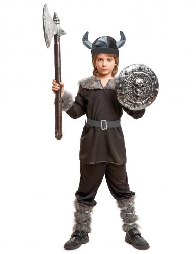 Zwarte viking kostuum voor jongens