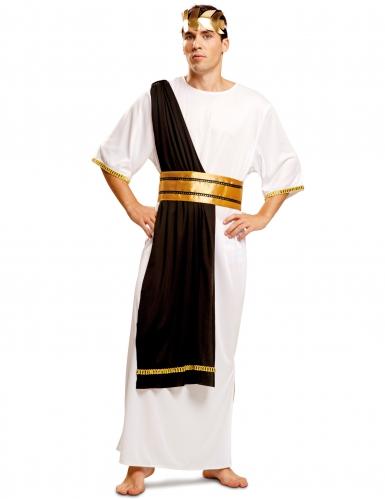 Zwart en wit Romeins meester kostuum voor mannen