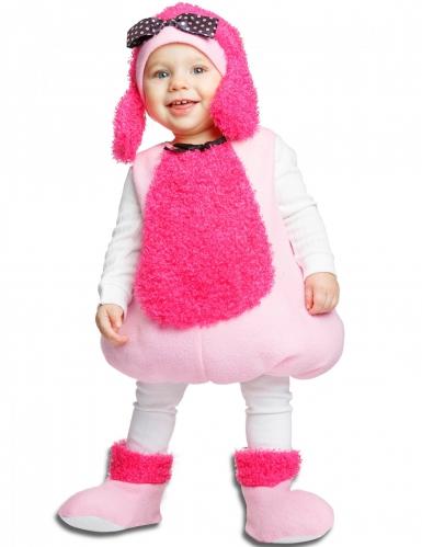 Roze poedel kostuum voor baby's
