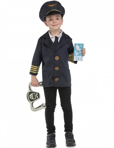 Vliegtuig piloot kostuum met accessoires voor kinderen
