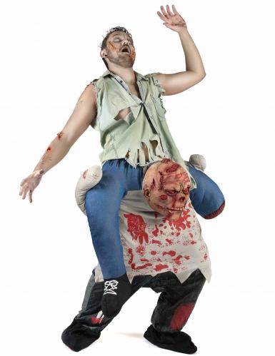 Zombie Carry Me kostuum voor volwassenen-1