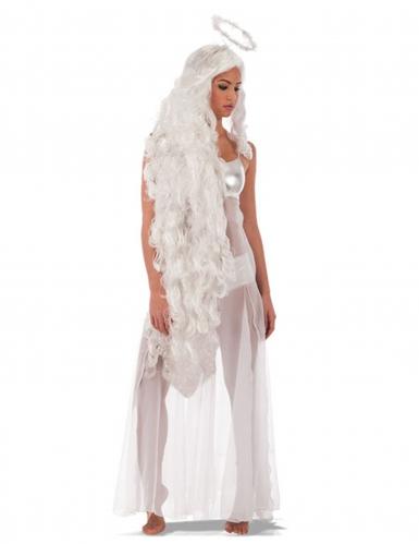Lange engelen pruik voor vrouwen