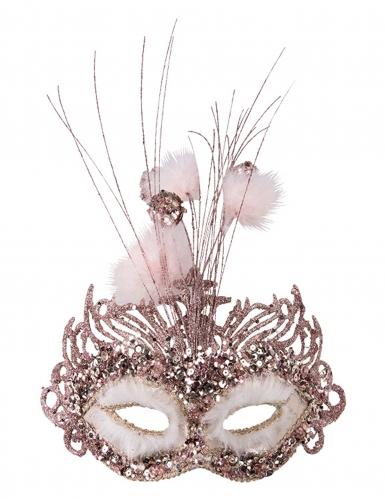 Luxe roze oogmasker voor dames