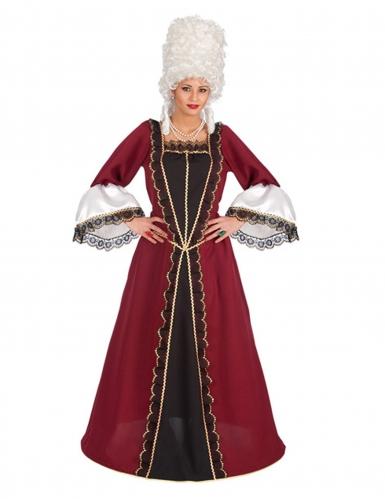 Bordeaux rood barok kostuum voor vrouwen