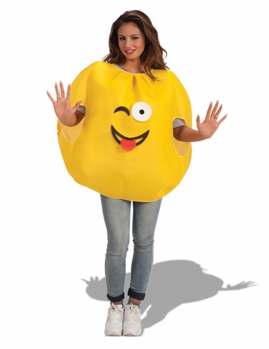 Emoticon knipoog kostuum voor volwassenen