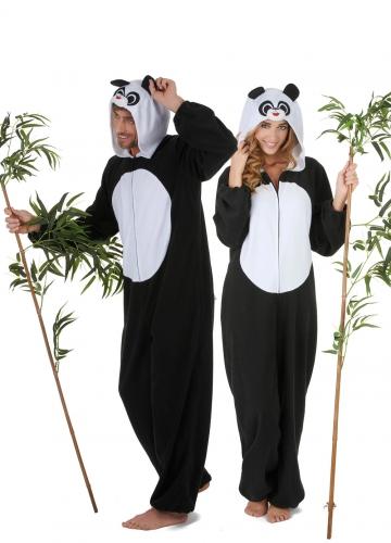 Panda koppelkostuum voor volwassenen