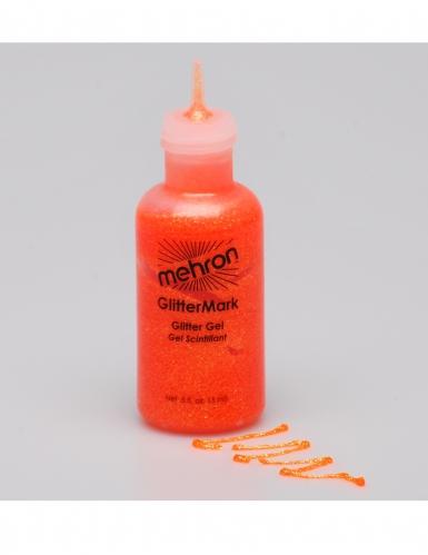 Mehron™ fluo oranje glitter gel