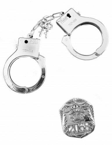 Politie badge en handboeien set voor volwassenen en kinderen