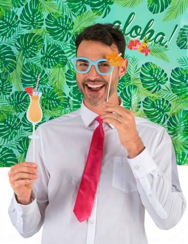 Hawaii photobooth set met 10 delen-1