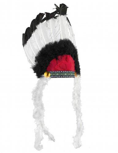 Indianen hoofdtooi met veren voor volwassenen