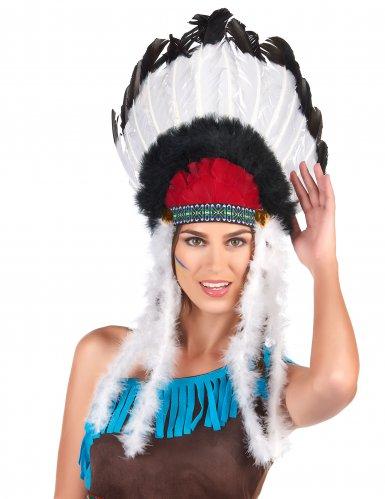 Indianen hoofdtooi met veren voor volwassenen-1
