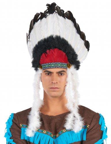 Indianen hoofdtooi met veren voor volwassenen-2
