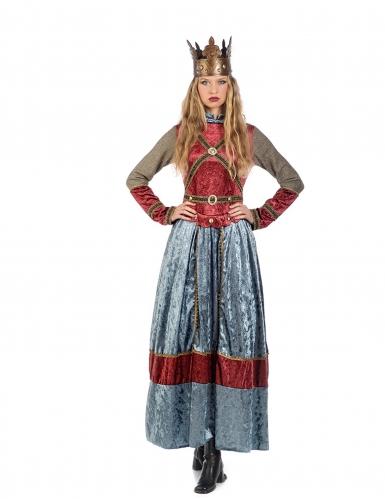 Premium middeleeuwse koningin kostuum voor vrouwen