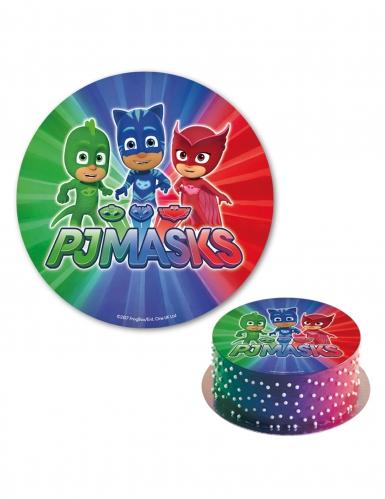 Eetbare taart schijf PJ Masks™-1