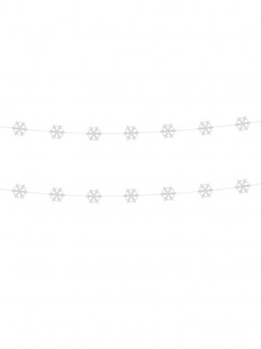 2 witte sneeuwvlokken slingers