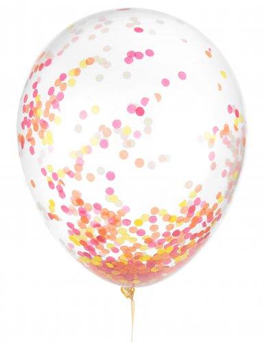 6 ballonnen met confetti