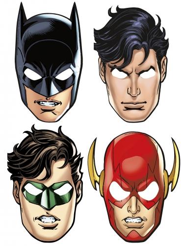 8 kartonnen Justice League™ maskers