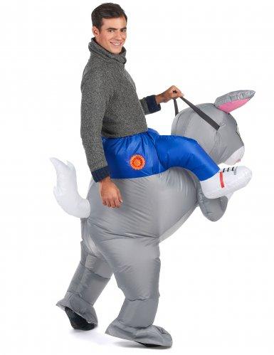 Opblaasbaar konijn kostuum voor volwassenen-2