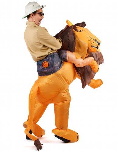 Opblaasbaar leeuw kostuum voor volwassenen-2