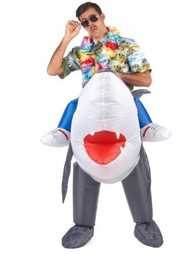 Opblaasbare haai kostuum voor volwassenen-1
