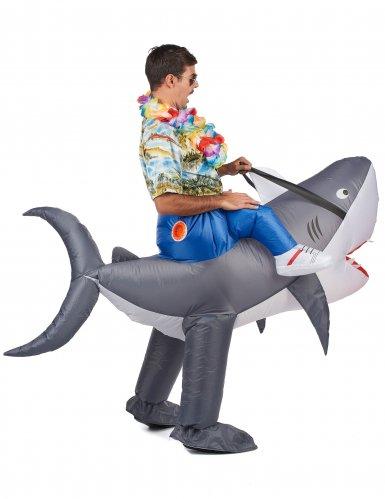 Opblaasbare haai kostuum voor volwassenen-2