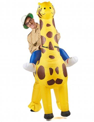Opblaasbaar giraffe kostuum voor volwassenen-1