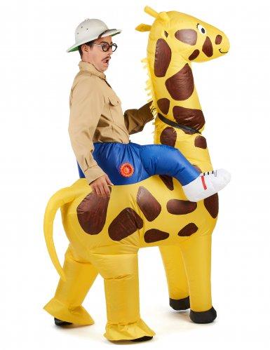 Opblaasbaar giraffe kostuum voor volwassenen-2
