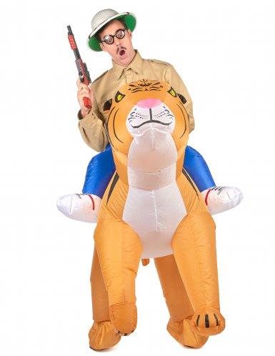 Opblaasbaar tijger kostuum voor volwassenen-1