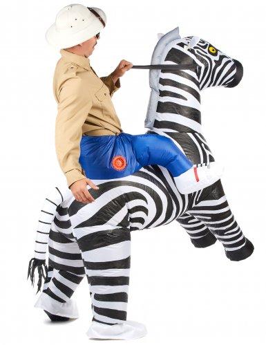 Opblaasbaar zebra kostuum voor volwassenen-2