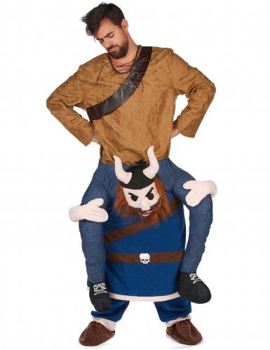 Man op de rug van een viking kostuum voor volwassenen-1