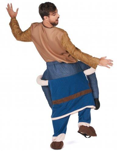 Man op de rug van een viking kostuum voor volwassenen-2