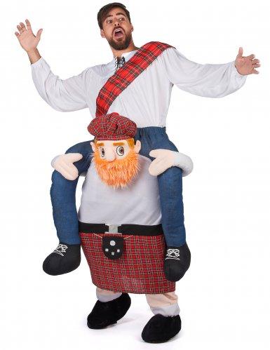 Man op de rug van een Schot kostuum voor volwassenen