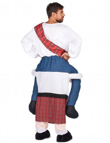 Man op de rug van een Schot kostuum voor volwassenen-2