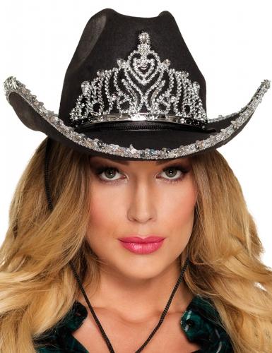 Zwarte cowboy prinses hoed voor vrouwen