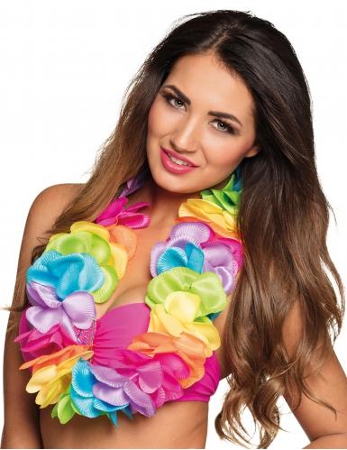 Veelkleurige satijnachtige Hawaii ketting