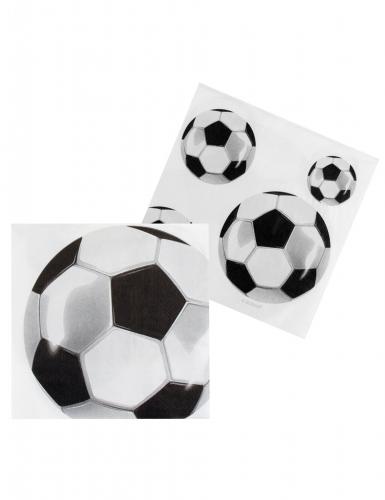 12 papieren servetten met voetbal-1