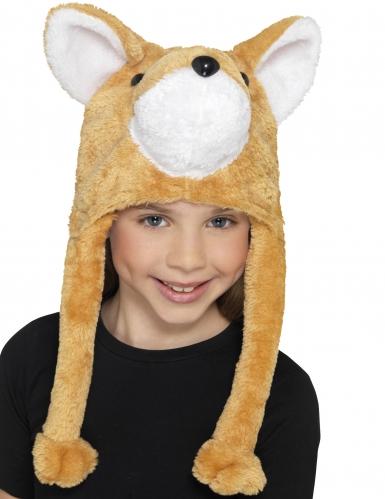 Pluche vos muts voor kinderen-1