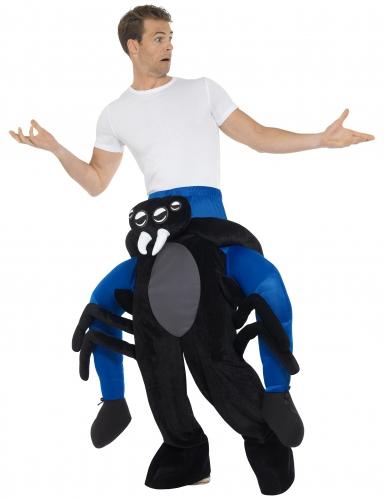 Man op de rug van een spin kostuum voor volwassenen-1