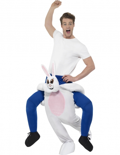 Konijn carry me kostuum voor volwassenen