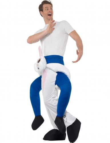 Konijn carry me kostuum voor volwassenen-1