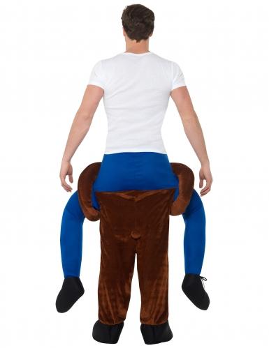 Man op de rug van een beer kostuum voor volwassenen-2