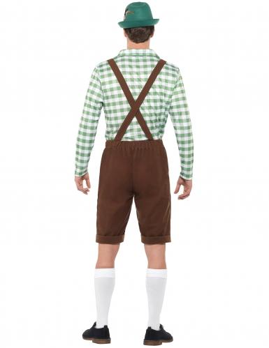 Groen en bruin Beiers kostuum voor volwassenen-2