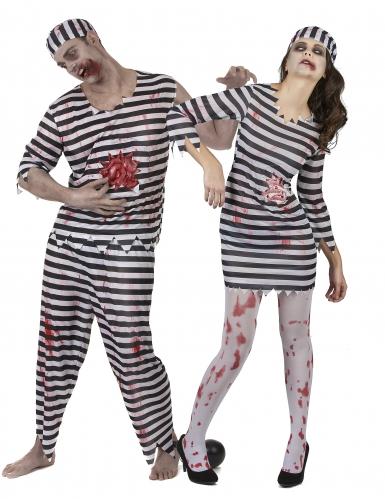 Zombie gevangene koppelkostuum voor volwassenen