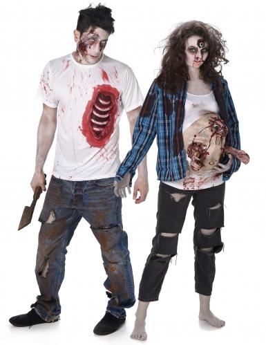 Zombie trash koppelkostuum voor volwassenen
