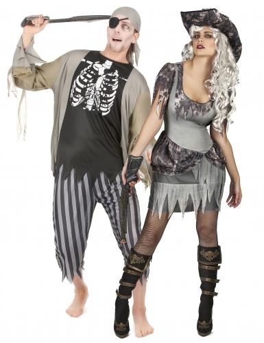 Zombie piraten koppelkostuum voor volwassenen