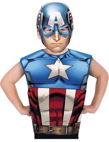 Captain America™ t-shirt en masker voor kinderen