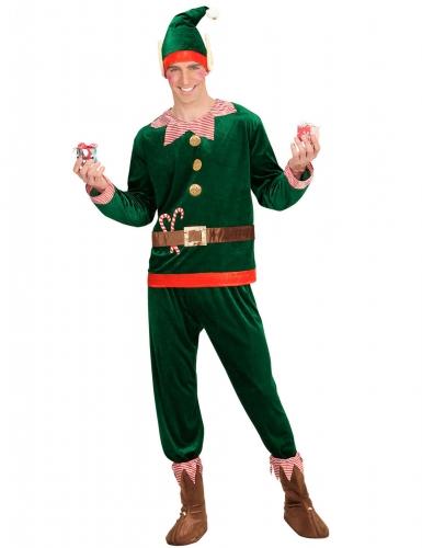 Kerstelf hulpje kostuum voor mannen